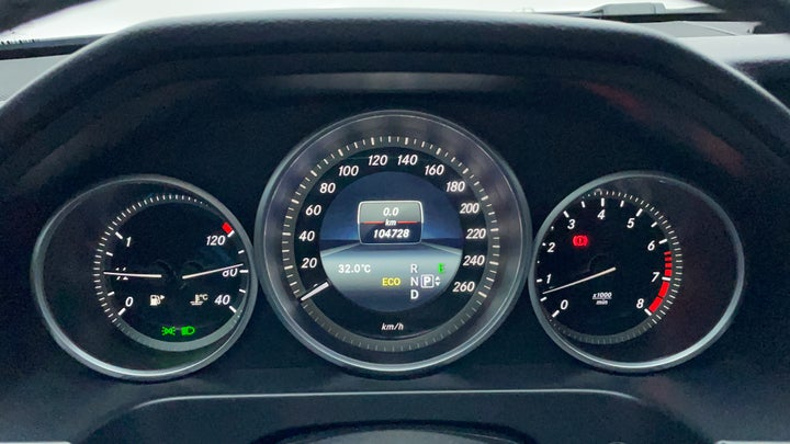 Mercedes Benz E-Class-Odometer View