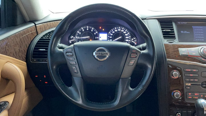 Nissan Patrol-Steering Wheel Close-up