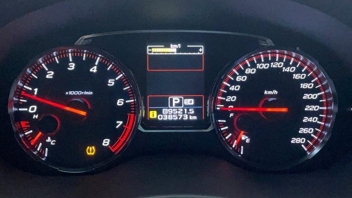 Subaru WRX-Odometer View