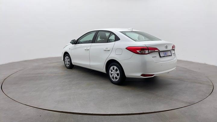 Toyota Yaris-Left Back Diagonal (45- Degree) View