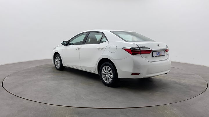 Toyota Corolla-Left Back Diagonal (45- Degree) View