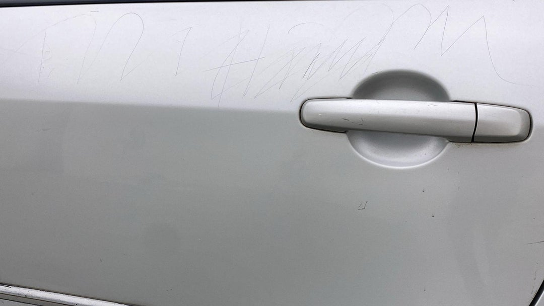 LEFT REAR DOOR MULTIPLE SCRATCHES (5 TO 6 INCHES)