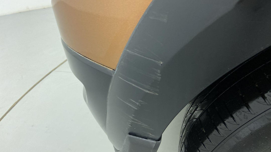 RIGHT REAR BUMPER/COVER HEAVY SCRATCH (1 TO 3 INCHES)