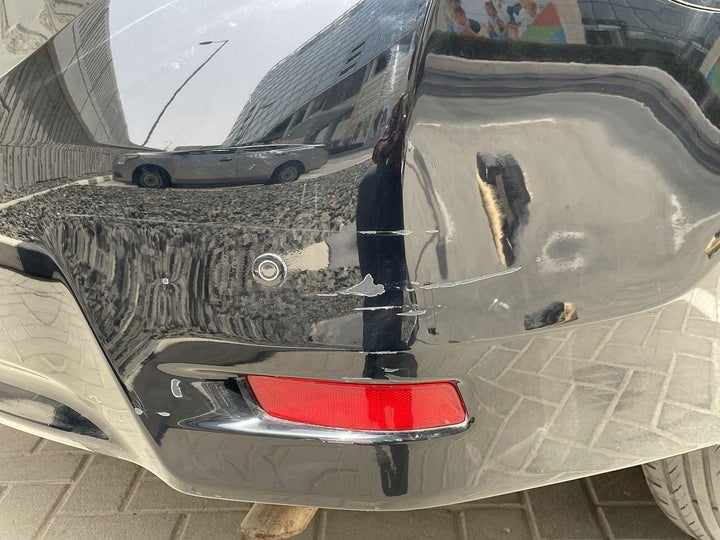Toyota Corolla-Right Rear Bumper/Cover Cracked Paint (Permanent)
