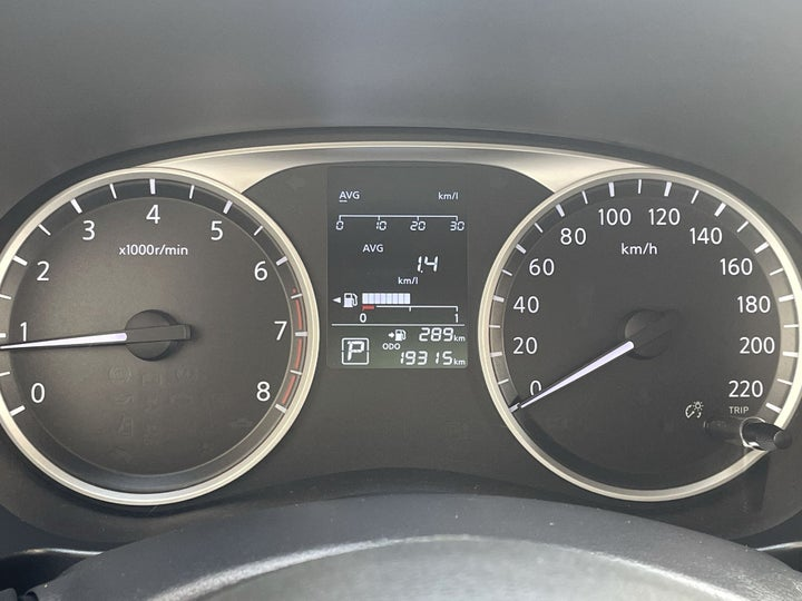 Nissan Kicks-ODOMETER VIEW