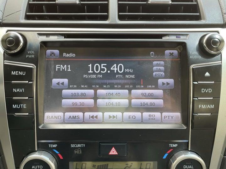 Toyota Aurion-INFOTAINMENT SYSTEM