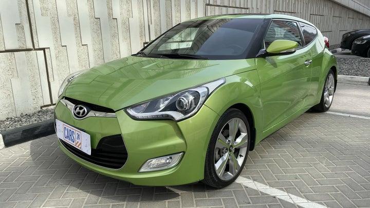 Hyundai Veloster-LEFT FRONT DIAGONAL (45-DEGREE) VIEW