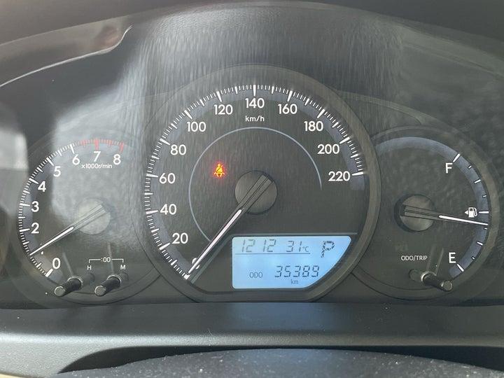 Toyota Yaris-ODOMETER VIEW