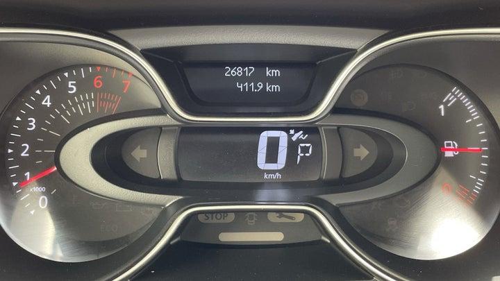 Renault Captur-ODOMETER VIEW