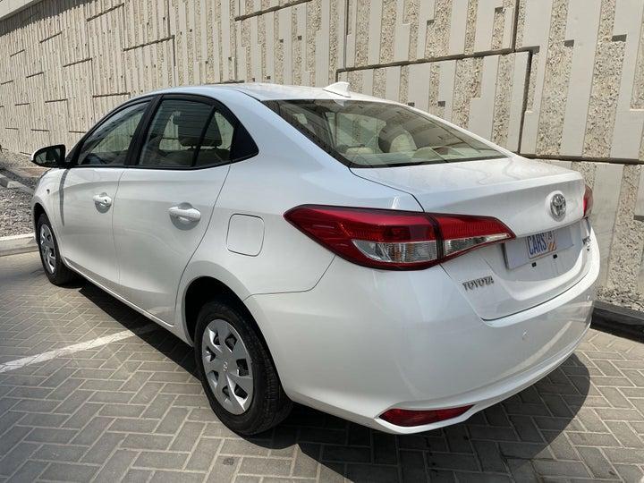 Toyota Yaris-LEFT BACK DIAGONAL (45-DEGREE) VIEW