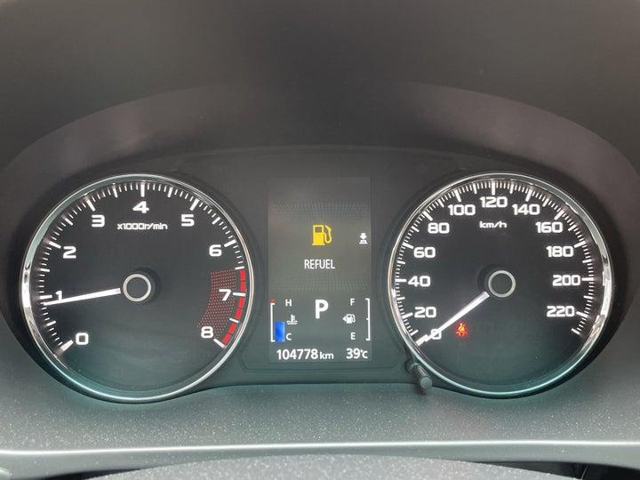Mitsubishi Montero Sport-ODOMETER VIEW