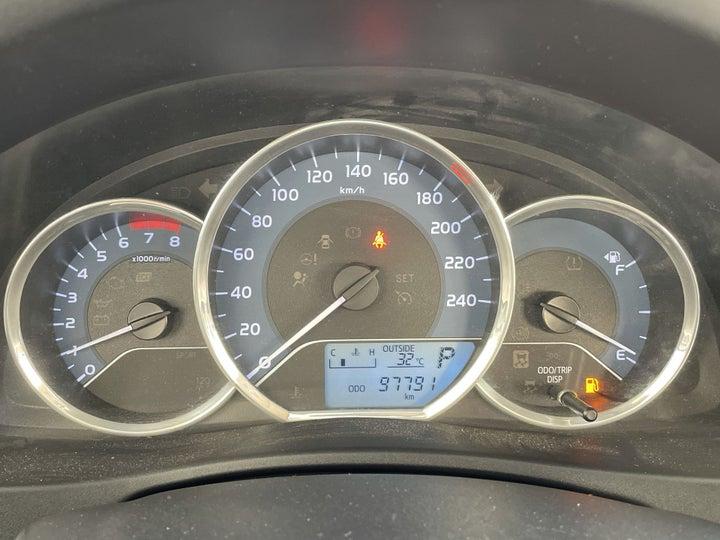 Toyota Corolla-ODOMETER VIEW