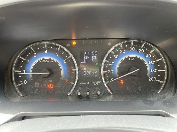 Toyota Rush-ODOMETER VIEW