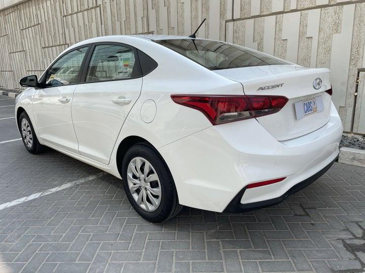 Hyundai Accent-LEFT BACK DIAGONAL (45-DEGREE) VIEW